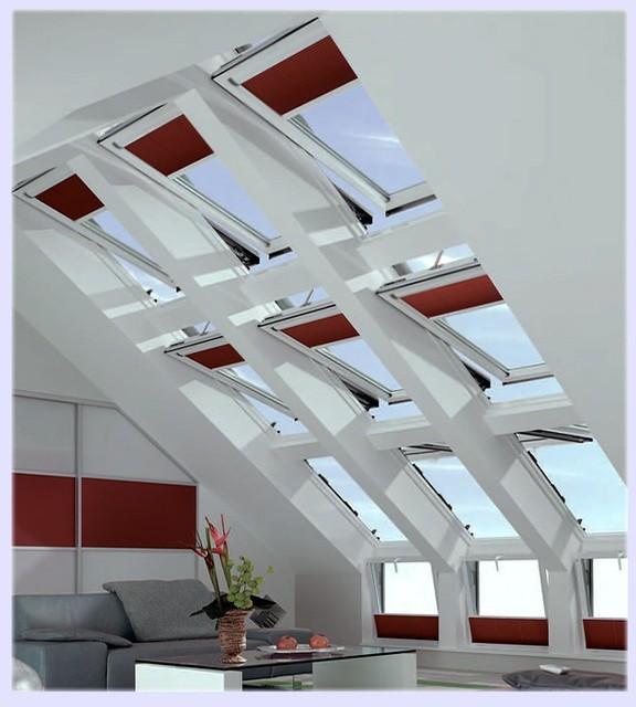 Дизайн мансардных окон Fakro, Velux и Roto.