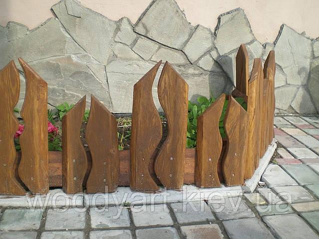 Декоративные заборы для клумб